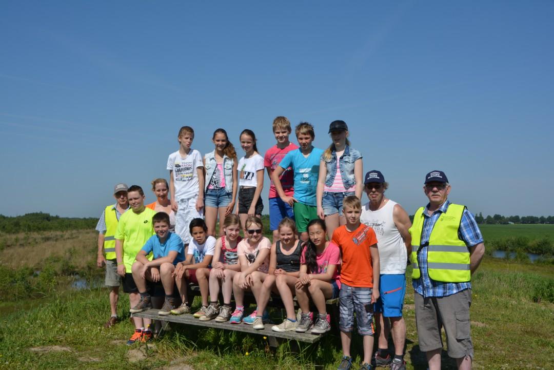 Groep :8 van de Gerardus Majella school i.s.m Hist,Ver,Nei-Schoonebeek op Vrijdag 5 Juni 2015 naar het Bargerveen.